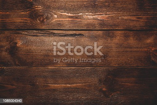 Old dark wooden surface