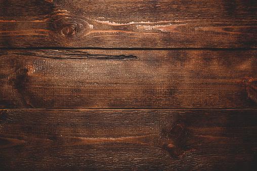 Old dark wooden surface