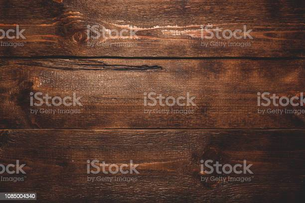 Photo of Old dark wooden surface