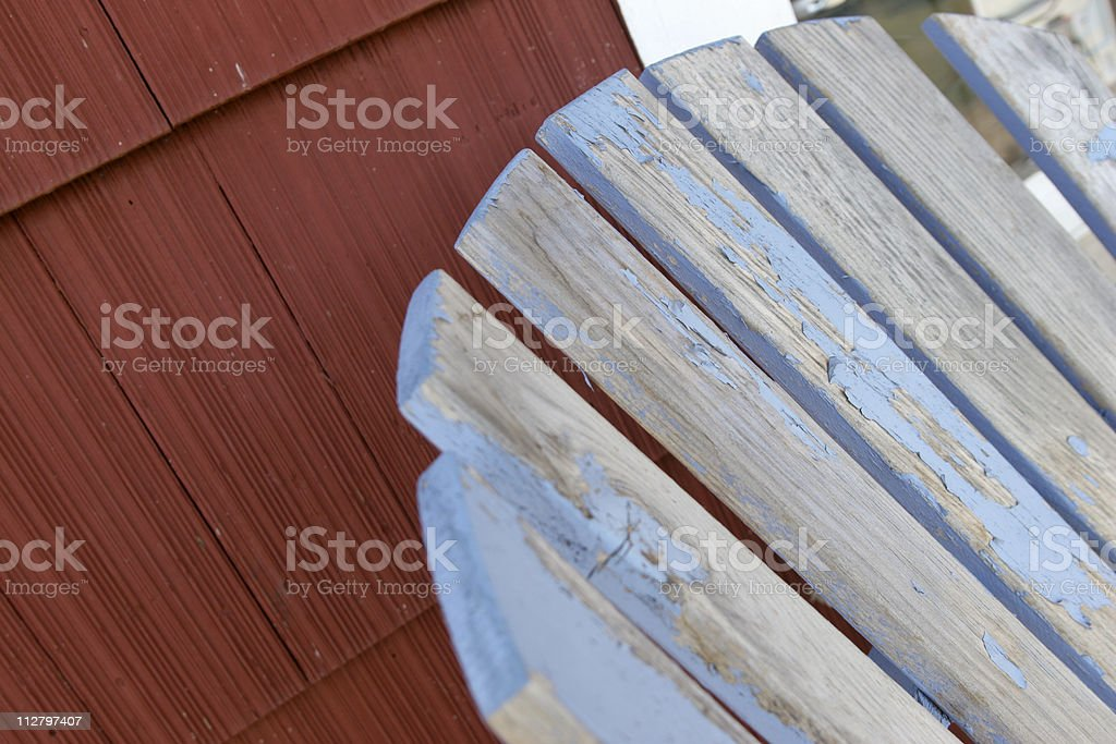 Old Deck Chair royalty-free stock photo