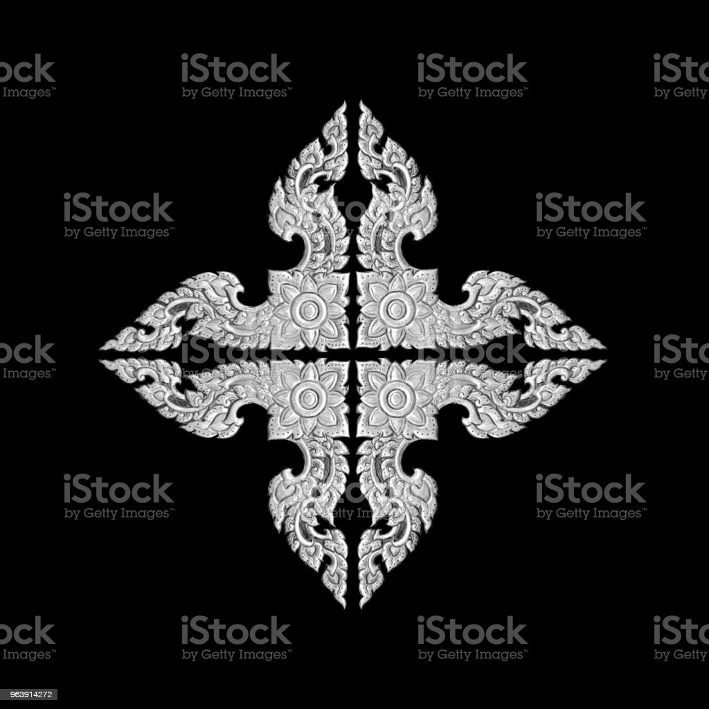 old decorative frame - handmade, engraved - isolated on black  background - Royalty-free Alloy Stock Photo