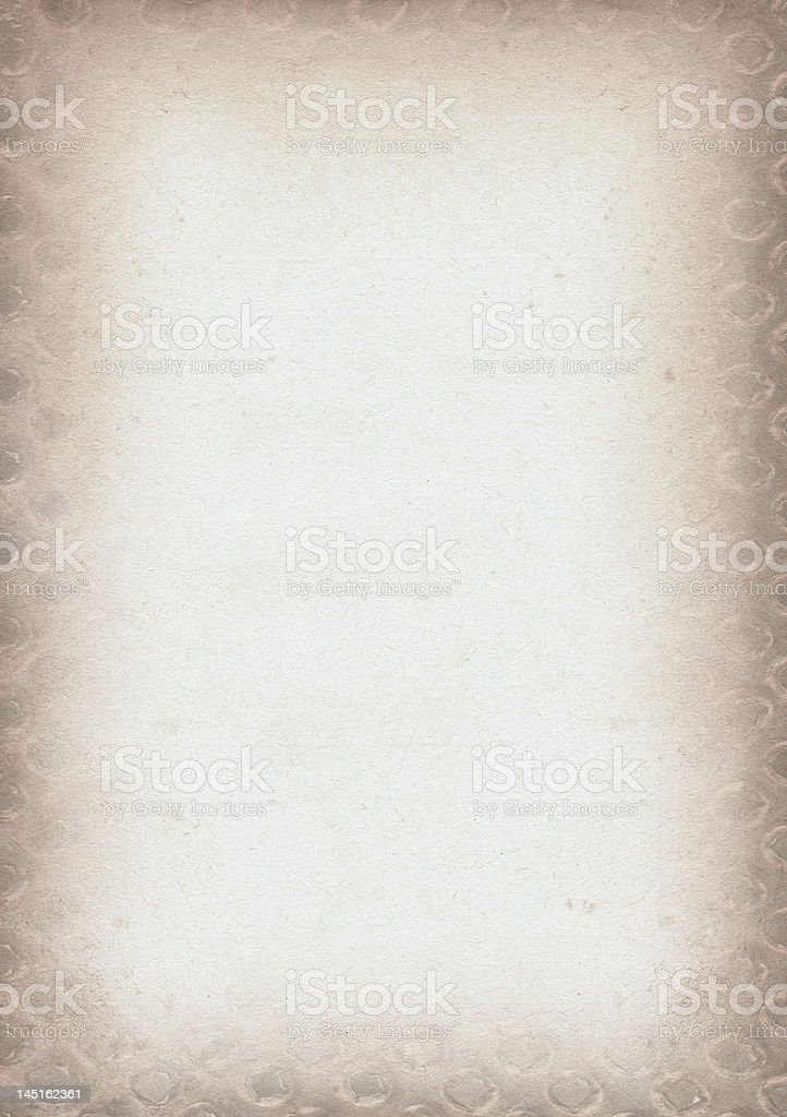 old decorative piece of pape royalty-free stock photo
