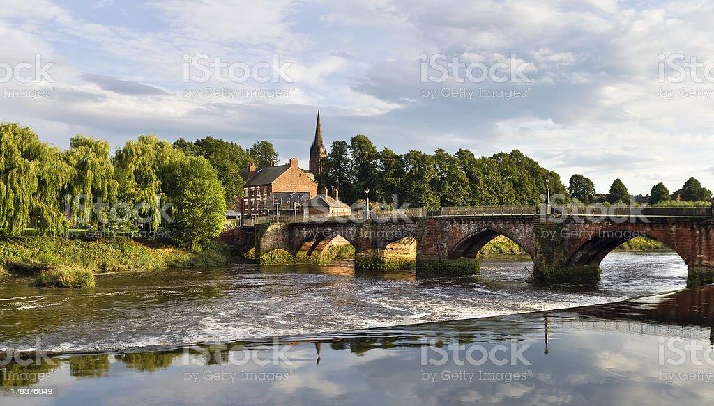 Old Dee bridge, Chester stock photo