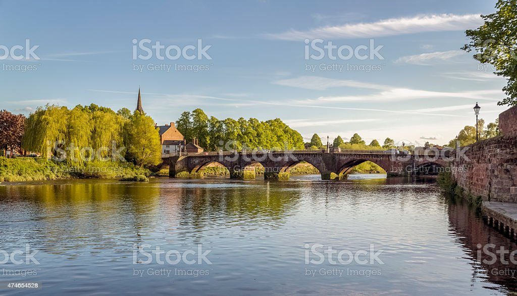Old Dee Bridge Chester stock photo