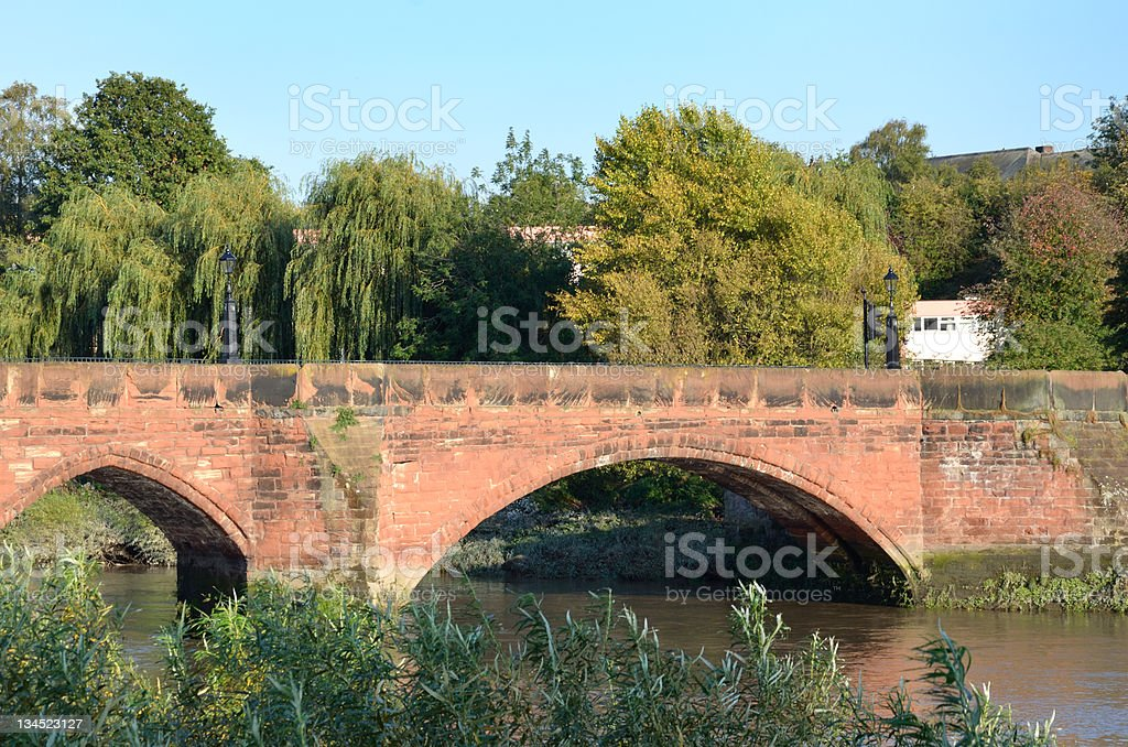 Old Dee Bridge in Chester royalty-free stock photo