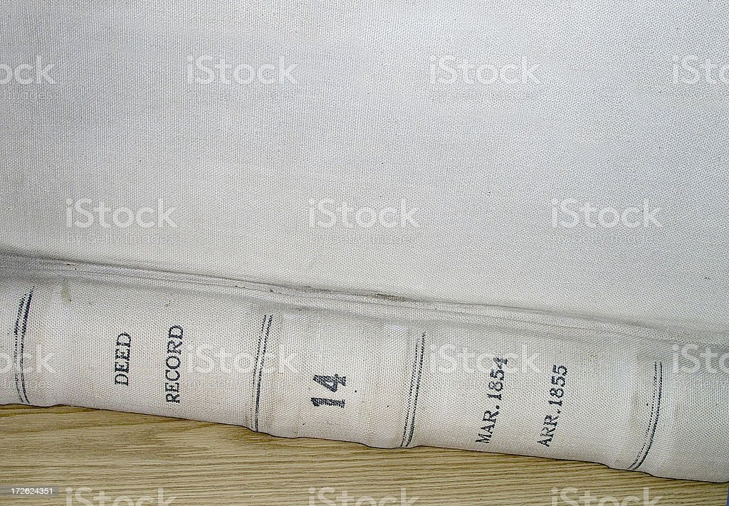 Old Deed Book stock photo