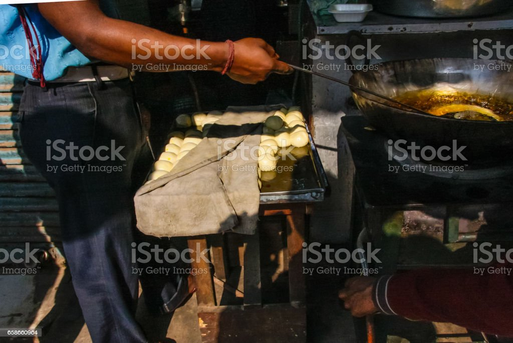 old dehli food in streets market stock photo