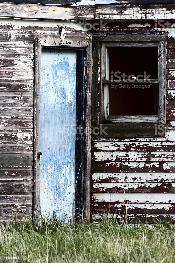 Old delapidated house stock photo
