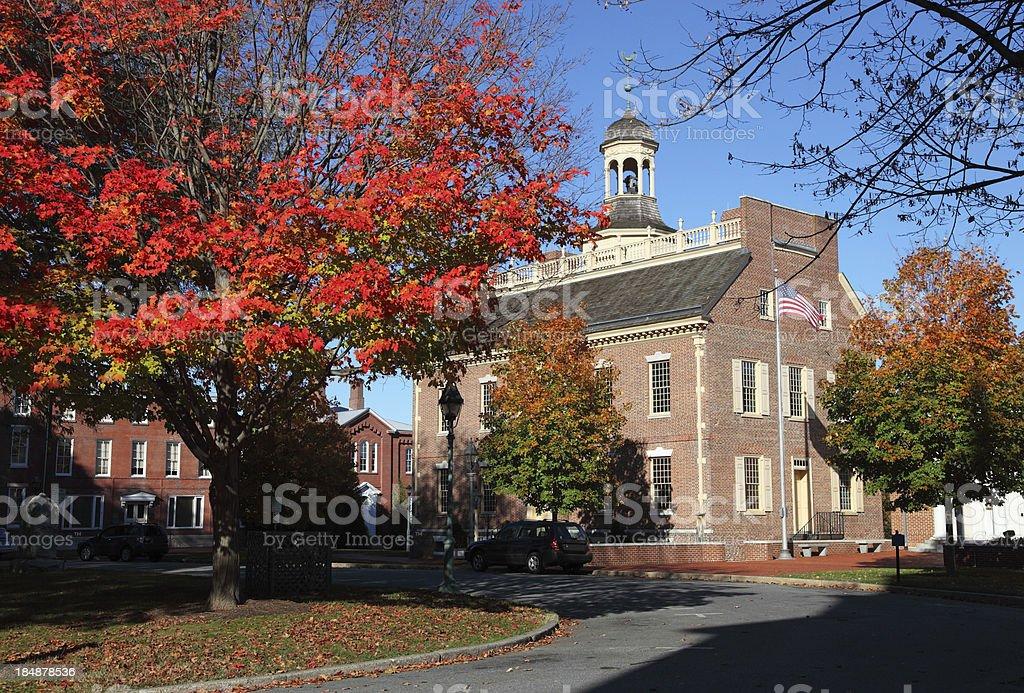 Old Delaware Statehouse stock photo