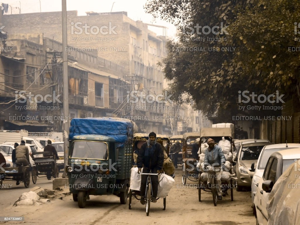 Old Delhi, India stock photo