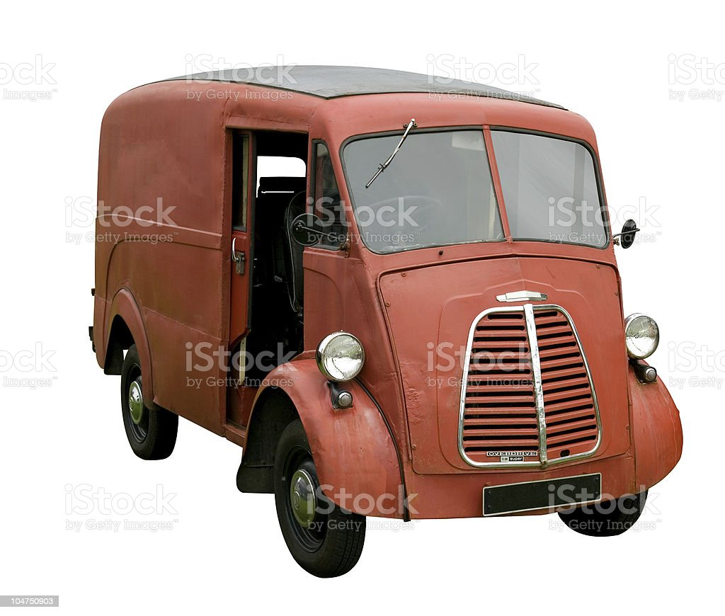 Old delivery van royalty-free stock photo
