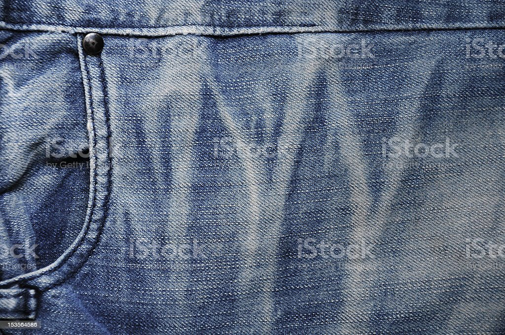 Old denim cloth royalty-free stock photo