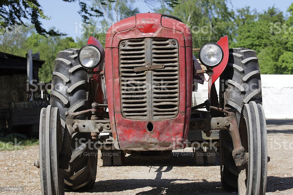 Old dented tractor royalty-free stock photo