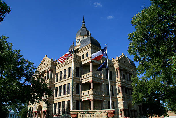 Old Denton County Courthouse on the downtown square