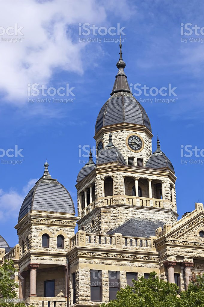 Old Denton County Courthouse stock photo