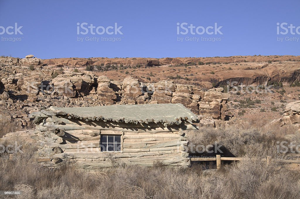 Old Desert Homestead royalty-free stock photo