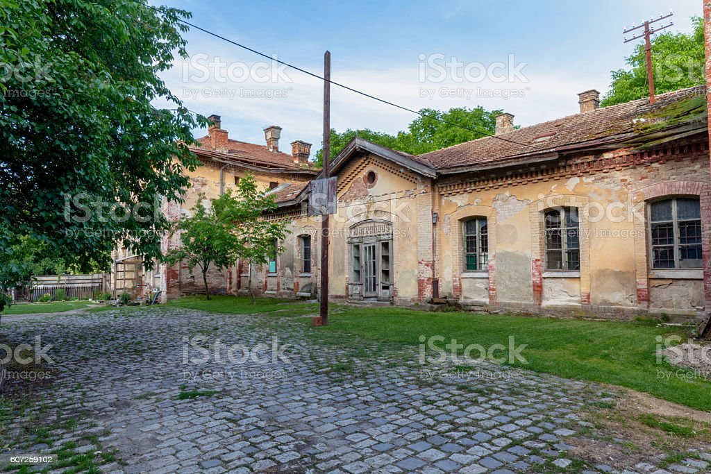 Old Deserted Cobbled Street stock photo