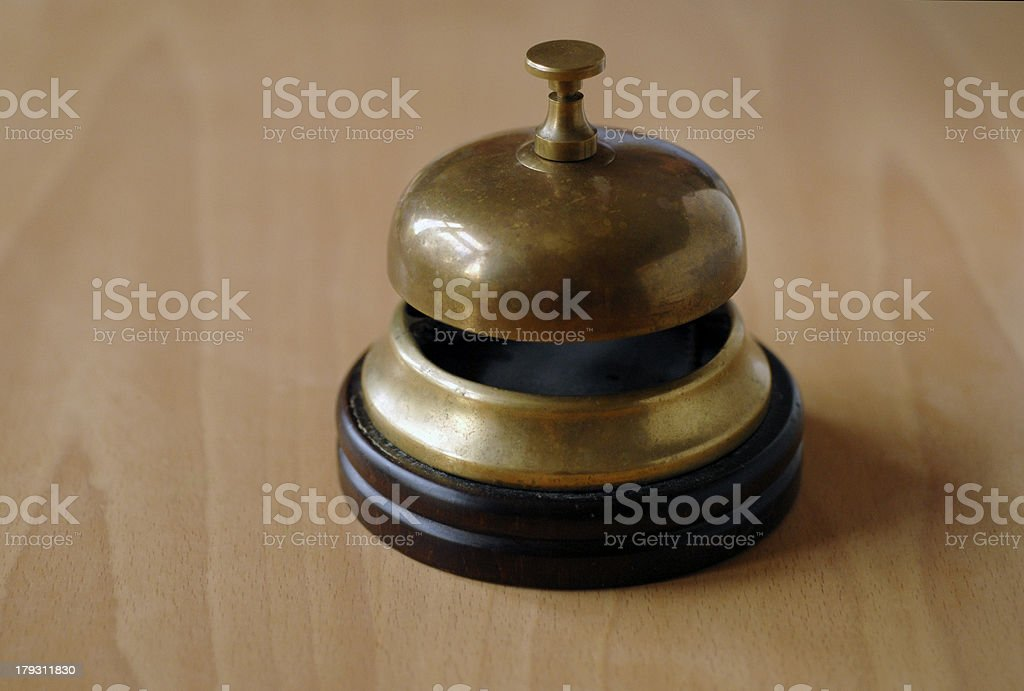 Old desk bell royalty-free stock photo