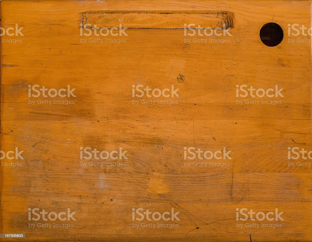 Genial Old Desk Surface Stock Photo
