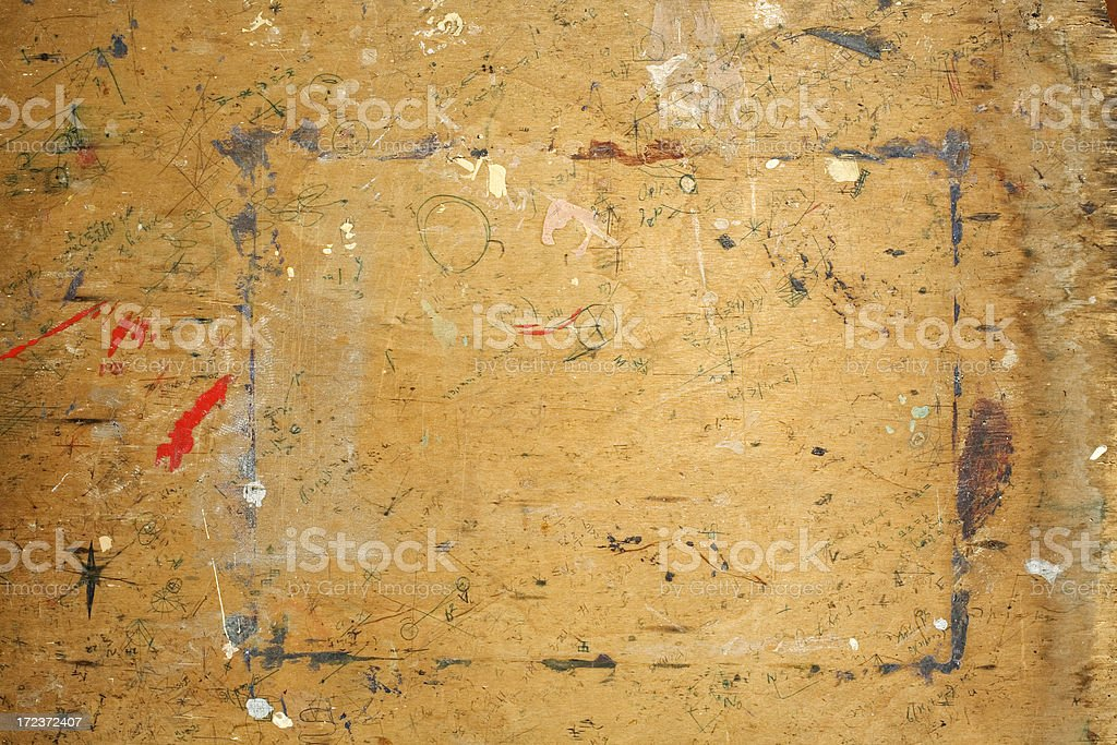 Old desk top with border royalty-free stock photo