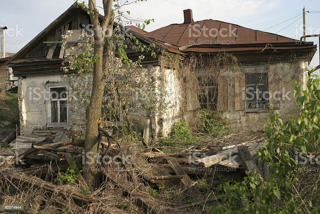 old desolate house royalty-free stock photo