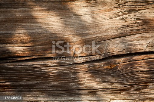 666644136 istock photo Old destroyed wood and out of focus wood in the background 1172438504