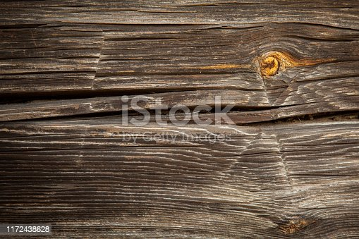 666644136 istock photo Old destroyed wood and out of focus wood in the background 1172438628