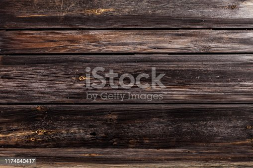 666644136 istock photo Old destroyed wood and out of focus wood in the background 1174640417