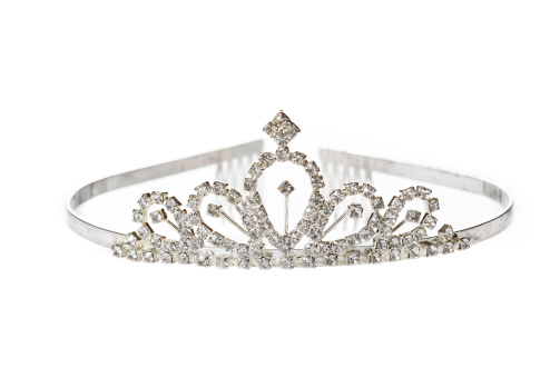Old diadem on white background