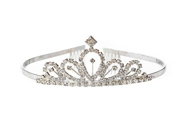 Old Diadem on White Background Old diadem on white background diademe stock pictures, royalty-free photos & images