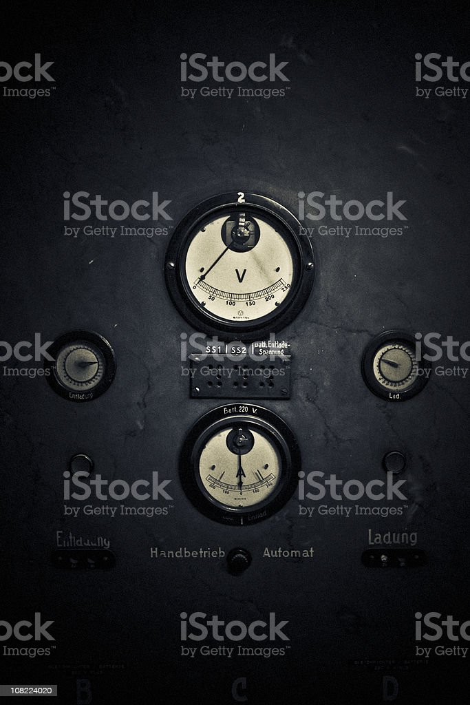 Old dials and guages royalty-free stock photo