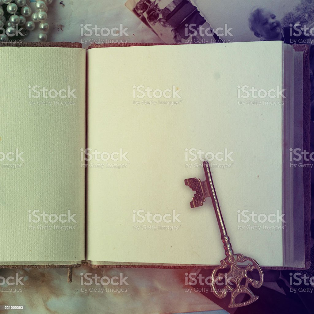old Diary stock photo