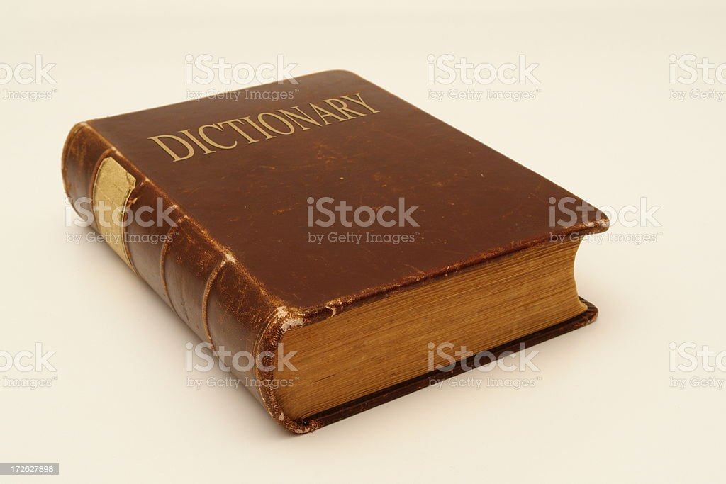 Old Dictionary royalty-free stock photo