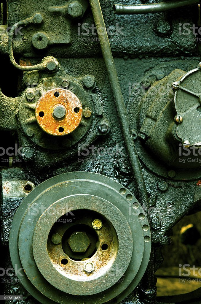 old diesel engine close-up royalty-free stock photo