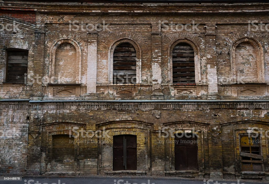Old Dilapidated House Background Stock Photo - Download