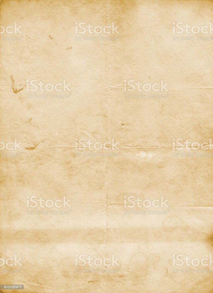 Old dirty and crunpled paper texture. stock photo