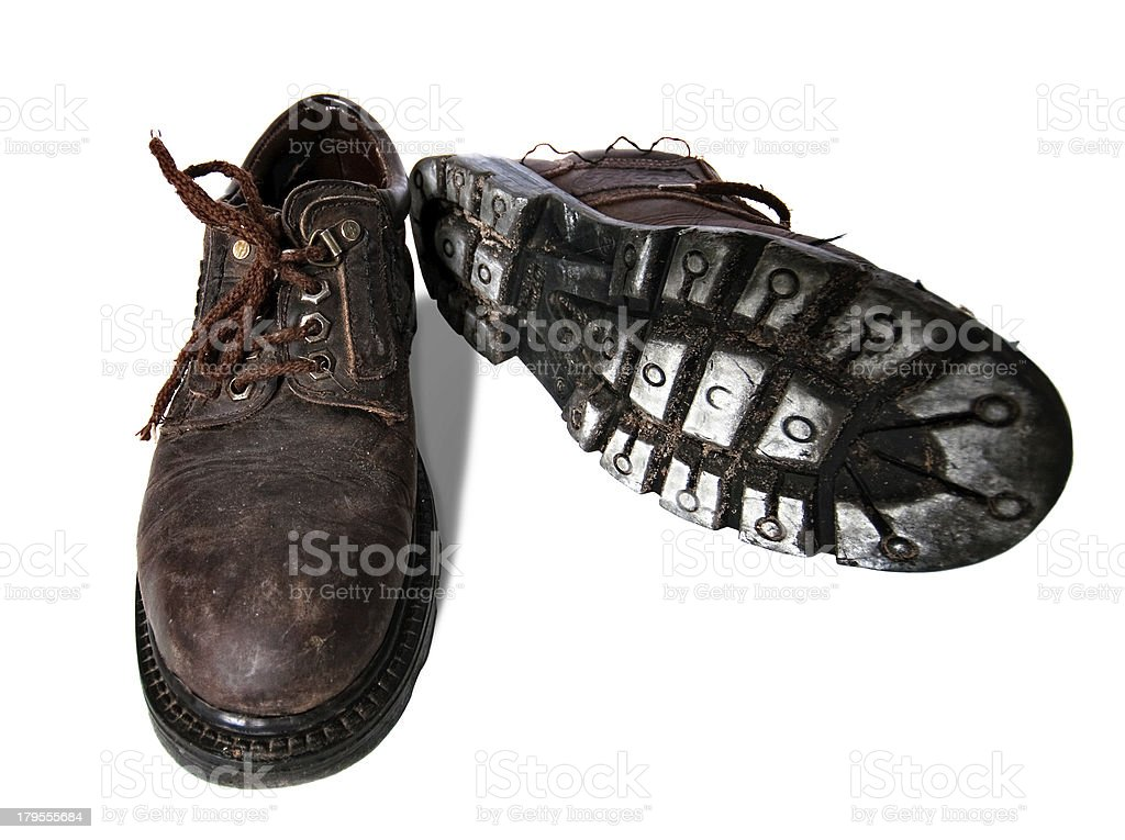 Old dirty boots royalty-free stock photo