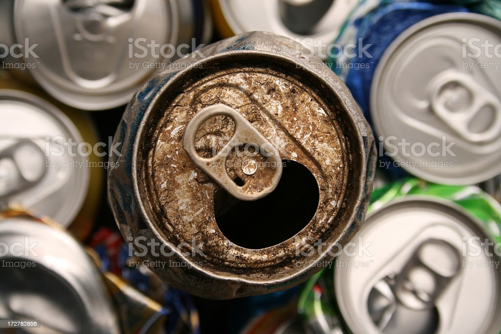 Old dirty can royalty-free stock photo