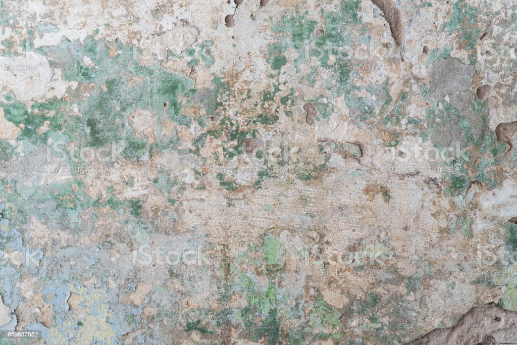 Old dirty cement wall with paint stock photo