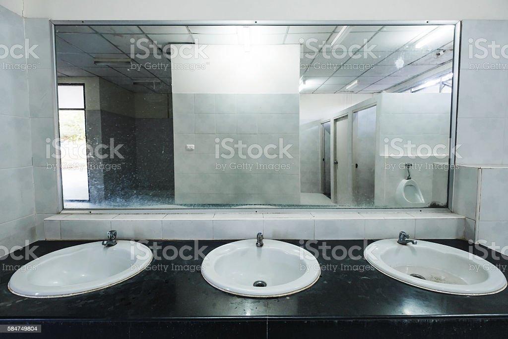 public bathroom mirror. Wonderful Bathroom Old Dirty Interior Public Restroom Stock Photo And Public Bathroom Mirror L