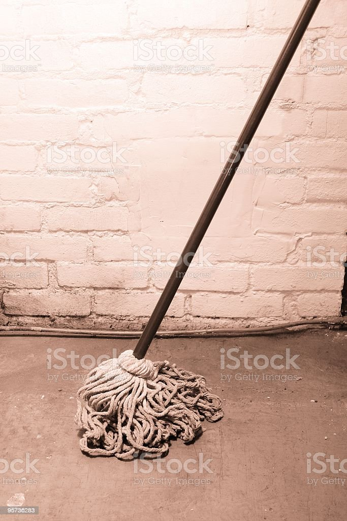 Old Dirty Mop royalty-free stock photo