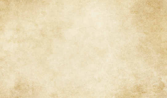 Old yellowed and grunge paper or parchment background.