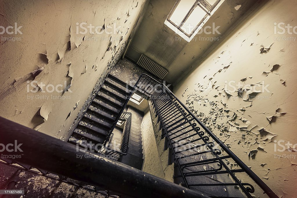 Old dirty ruin staircase royalty-free stock photo