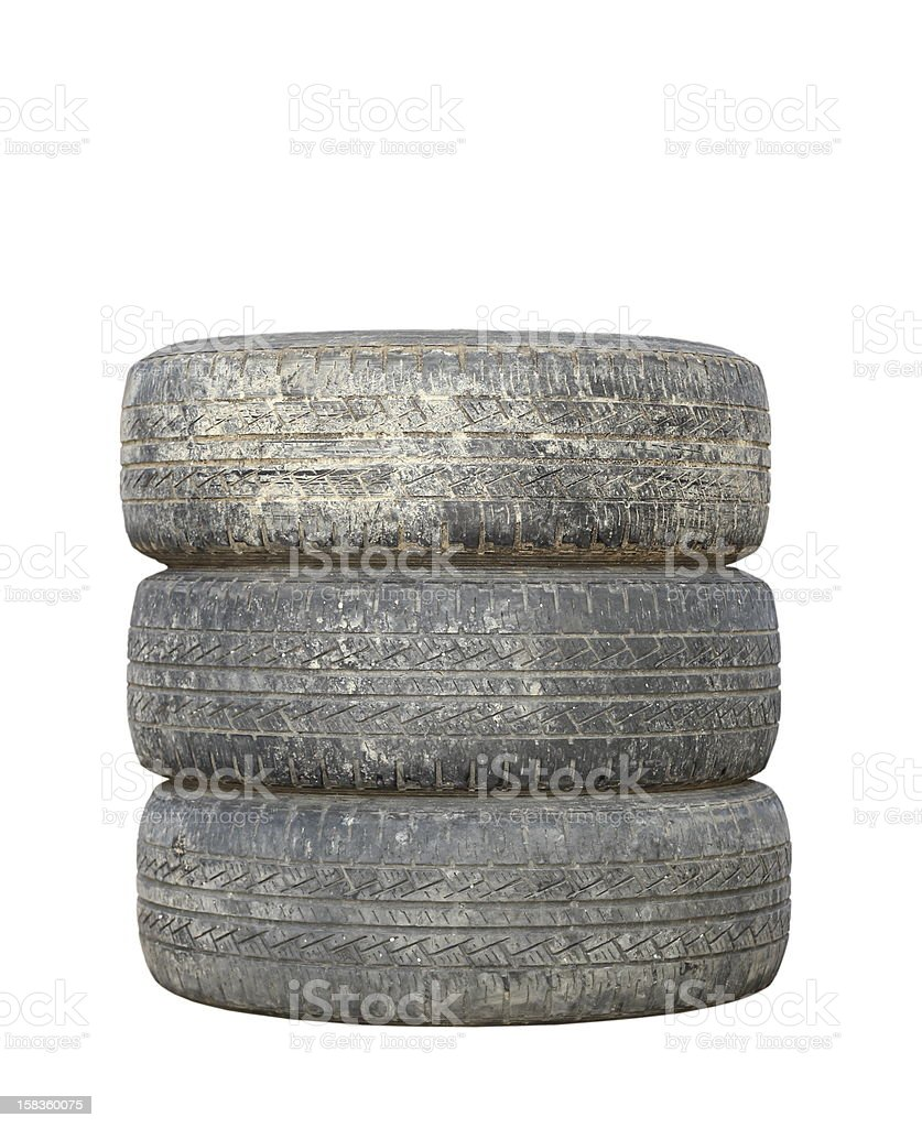 old dirty tires stock photo
