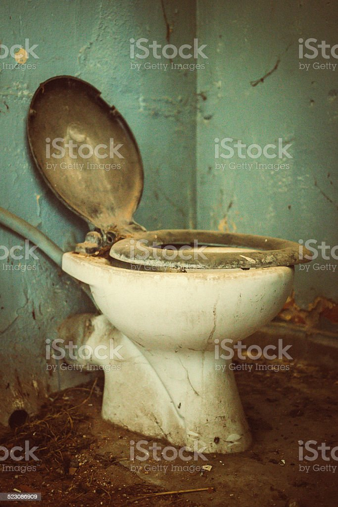 Old Dirty Toilet Royalty Free Stock Photo