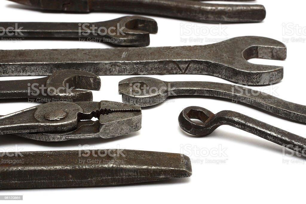 Vecchio sporco strumenti foto stock royalty-free