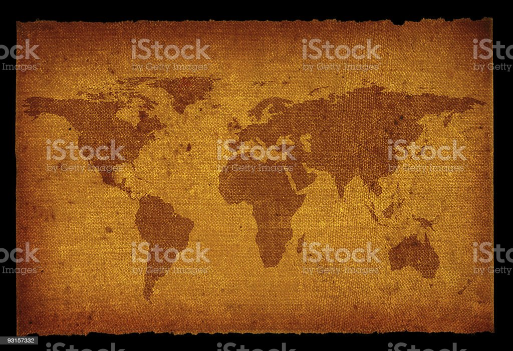 old dirty world map stock photo
