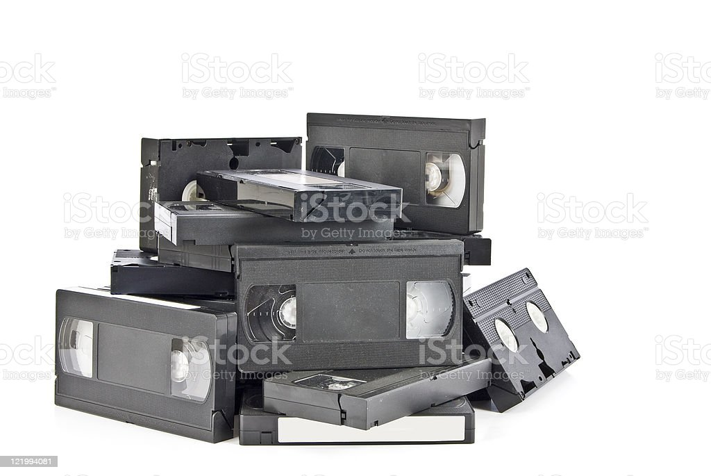 Old Discarded VHS Video Cassettes royalty-free stock photo