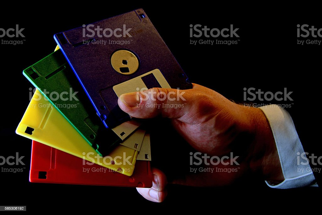 Old Disks stock photo