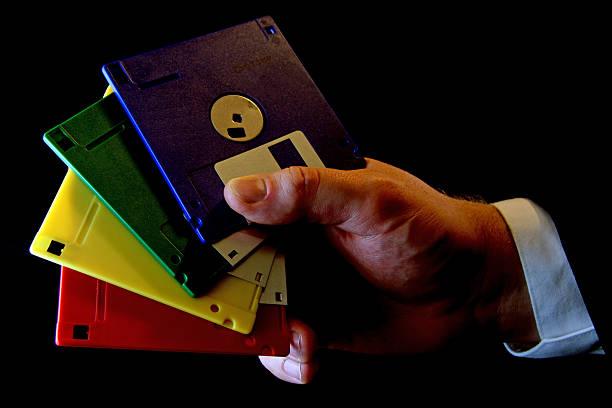 old disks - typisch 90er stock-fotos und bilder